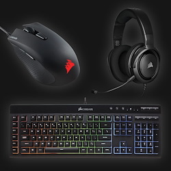 Corsair eSport Gaming Bundle (keyboard, mus og headset)