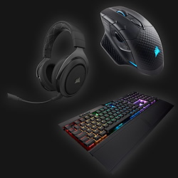 Corsair Pro Gaming Bundle (keybord, mus og headset)