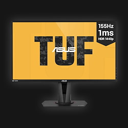 27'' Asus TUF VG27BQ - QHD - 0.4ms - 155Hz Gaming - G-Sync comp.