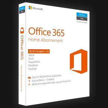 Office 365 Home (Word,Excel,Powerpoint,Outlook, Access) 1 år 6 enheder